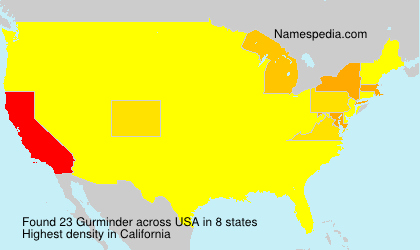 Surname Gurminder in USA