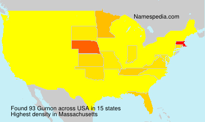 Surname Gurnon in USA
