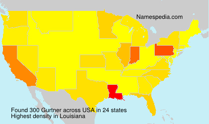 Surname Gurtner in USA