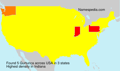 Surname Gurtunca in USA