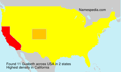 Surname Gusbeth in USA