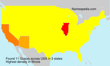Surname Gusias in USA