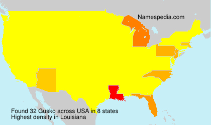 Surname Gusko in USA
