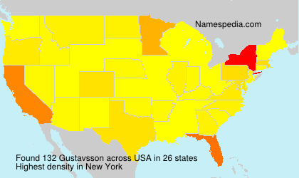 Surname Gustavsson in USA