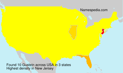 Surname Gustein in USA