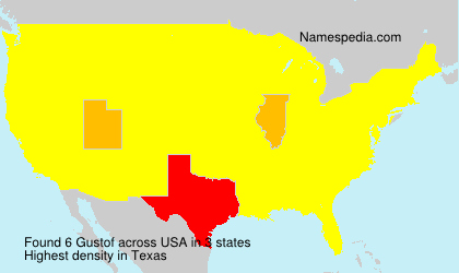 Surname Gustof in USA