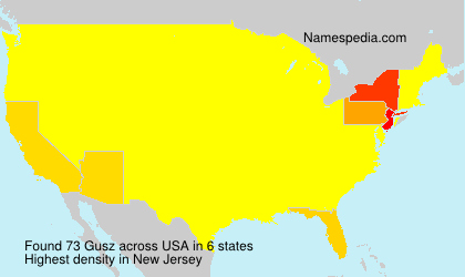 Surname Gusz in USA