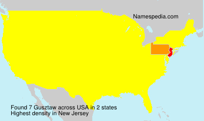 Surname Gusztaw in USA