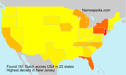 Surname Gutch in USA