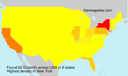 Surname Gutwirth in USA