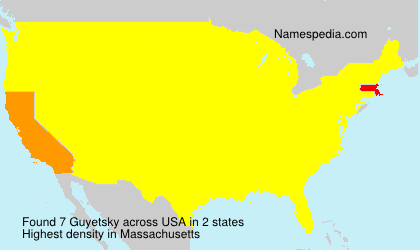 Surname Guyetsky in USA