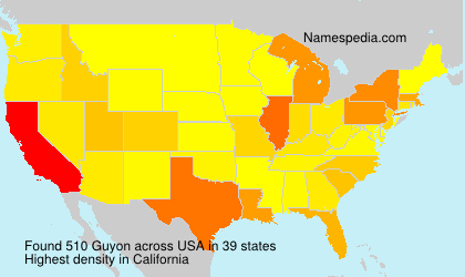 Surname Guyon in USA