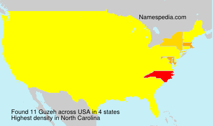 Surname Guzeh in USA
