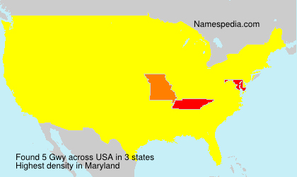 Surname Gwy in USA