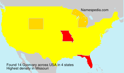 Surname Gyorvary in USA