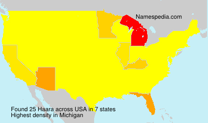 Surname Haara in USA