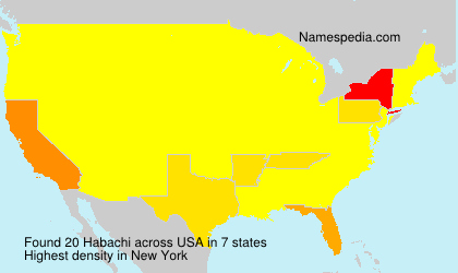 Surname Habachi in USA