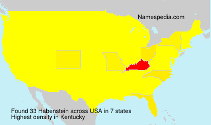 Surname Habenstein in USA