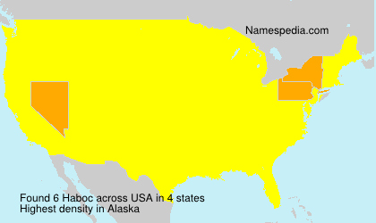 Surname Haboc in USA