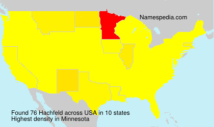 Surname Hachfeld in USA