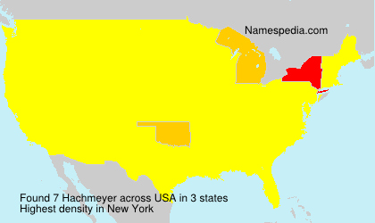 Surname Hachmeyer in USA