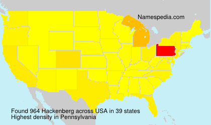 Surname Hackenberg in USA