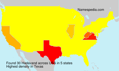 Surname Hadavand in USA