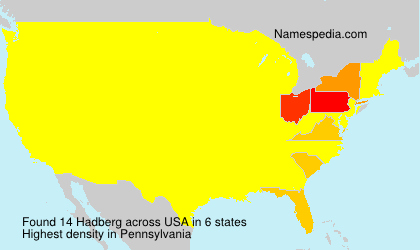 Surname Hadberg in USA