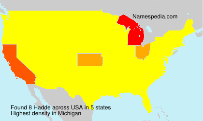 Surname Hadde in USA