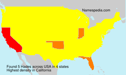 Surname Hades in USA