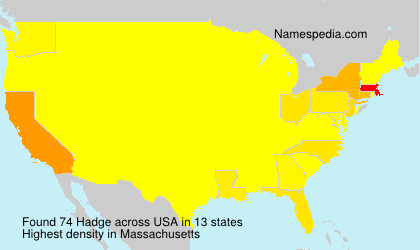Surname Hadge in USA
