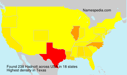 Surname Hadnott in USA