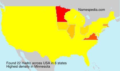 Surname Hadro in USA