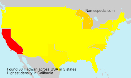 Surname Hadwan in USA
