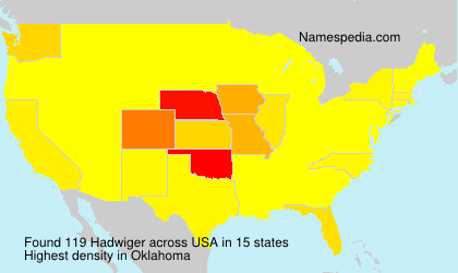 Surname Hadwiger in USA