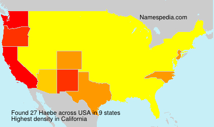 Surname Haebe in USA