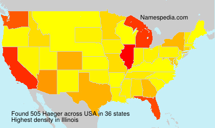 Surname Haeger in USA