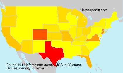 Surname Hafemeister in USA