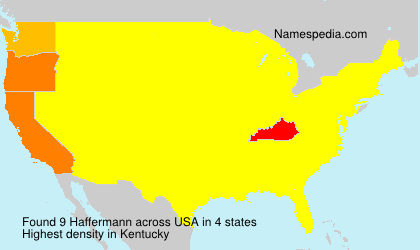 Surname Haffermann in USA