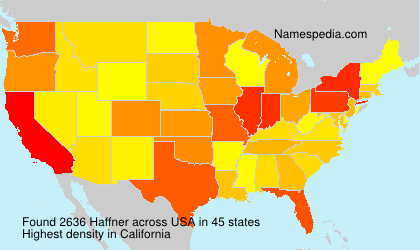 Surname Haffner in USA