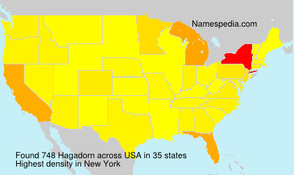 Surname Hagadorn in USA
