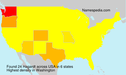 Surname Hagardt in USA