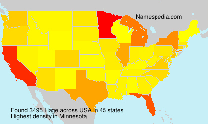 Surname Hage in USA