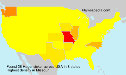 Surname Hagensicker in USA