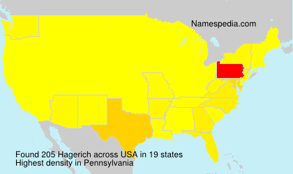Surname Hagerich in USA
