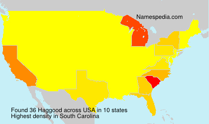 Surname Haggood in USA