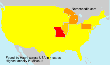 Surname Hagni in USA