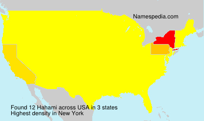 Surname Hahami in USA