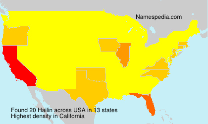 Surname Hailin in USA