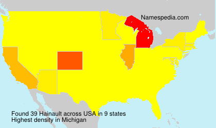 Surname Hainault in USA